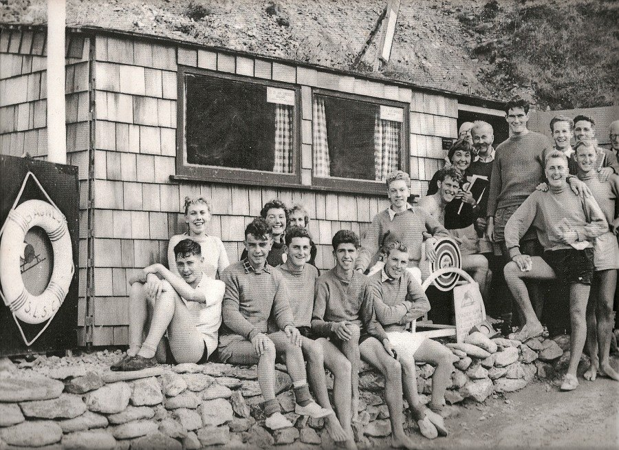 Hanging out at the original Surf Club hut.